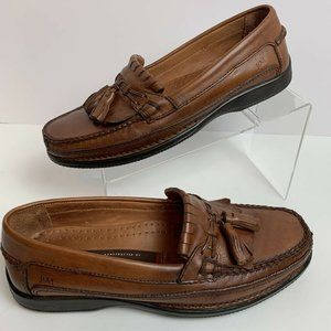 JOHNSTON & MURPHY Brown Leather Tassel Loafers 9 M